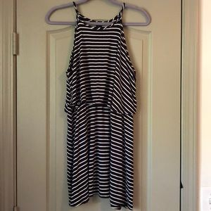 Cute Navy/White Striped Dress - Soft & Flattering!